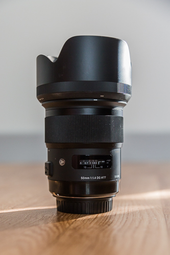 objectif sigma 50 mm art lens