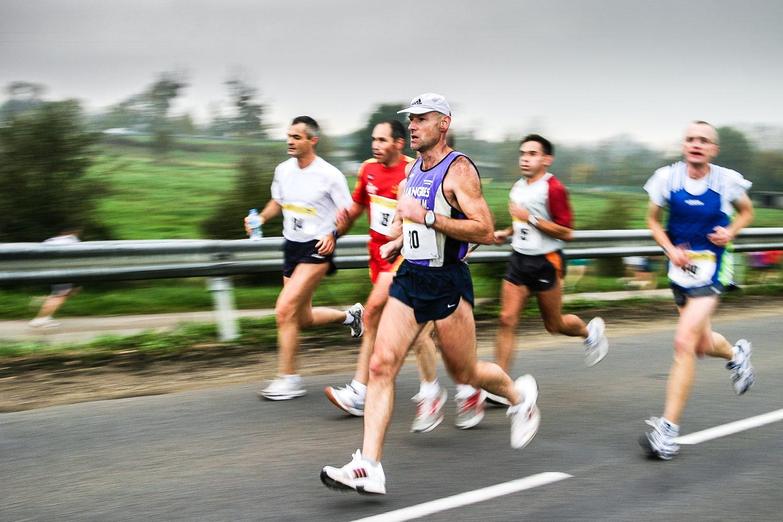 Coureurs au marathon