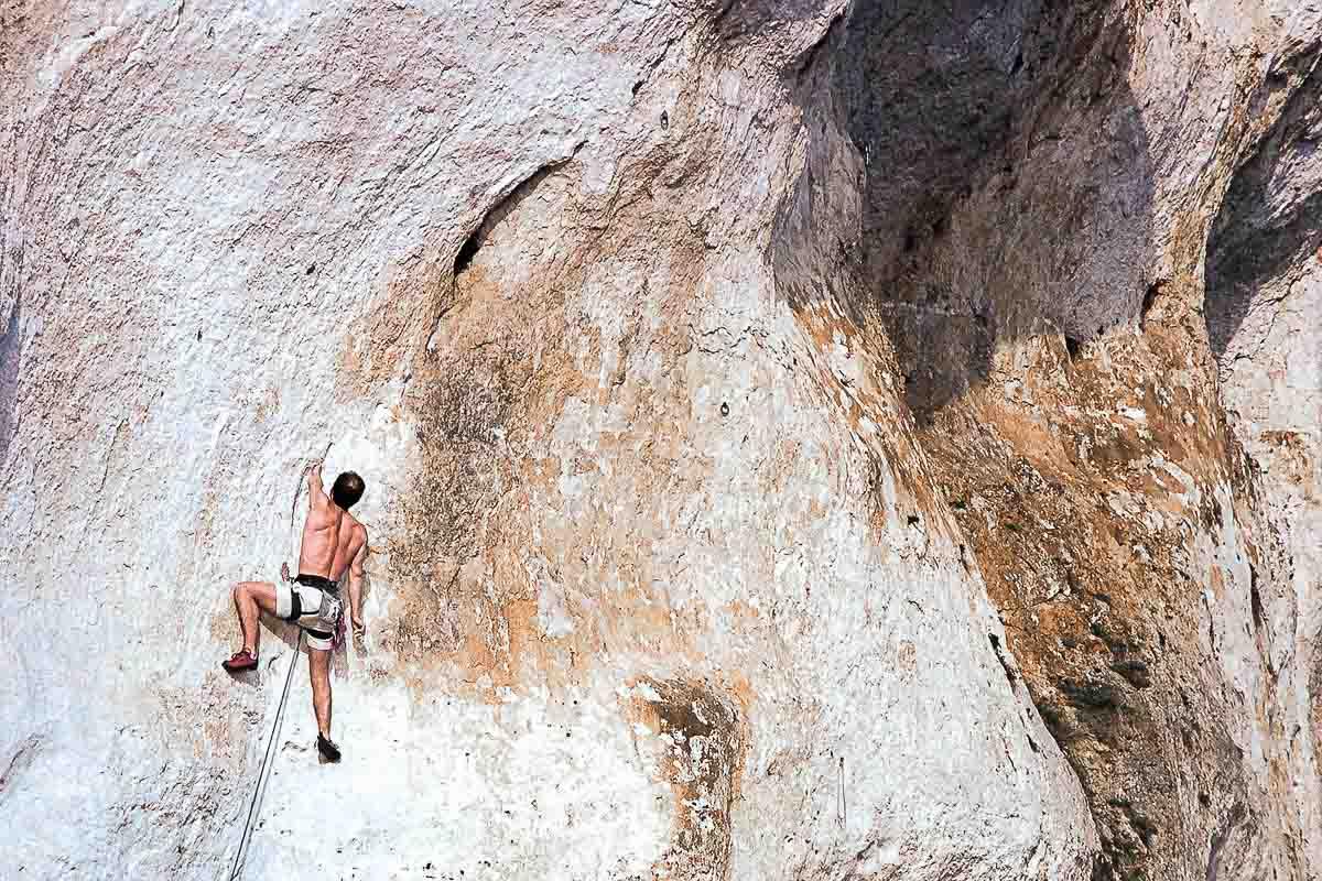 alpiniste après correction